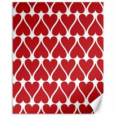Hearts Pattern Seamless Red Love Canvas 11  X 14