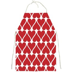 Hearts Pattern Seamless Red Love Full Print Aprons