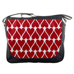 Hearts Pattern Seamless Red Love Messenger Bags