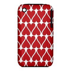 Hearts Pattern Seamless Red Love Iphone 3s/3gs