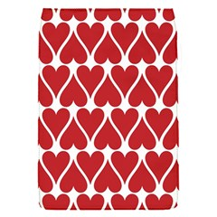 Hearts Pattern Seamless Red Love Flap Covers (s)