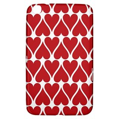 Hearts Pattern Seamless Red Love Samsung Galaxy Tab 3 (8 ) T3100 Hardshell Case