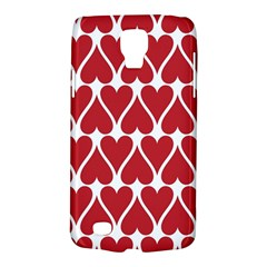 Hearts Pattern Seamless Red Love Galaxy S4 Active