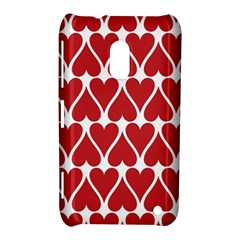 Hearts Pattern Seamless Red Love Nokia Lumia 620