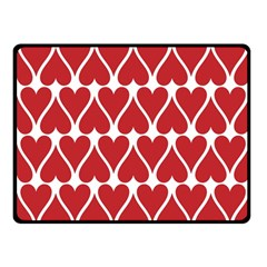 Hearts Pattern Seamless Red Love Double Sided Fleece Blanket (small)