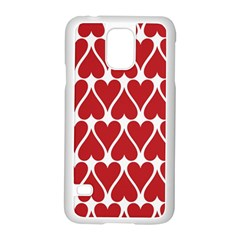 Hearts Pattern Seamless Red Love Samsung Galaxy S5 Case (white)
