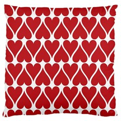 Hearts Pattern Seamless Red Love Standard Flano Cushion Case (one Side)