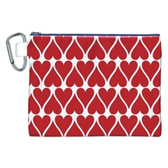 Hearts Pattern Seamless Red Love Canvas Cosmetic Bag (xxl)