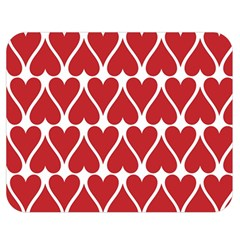 Hearts Pattern Seamless Red Love Double Sided Flano Blanket (medium)