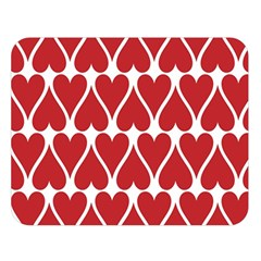 Hearts Pattern Seamless Red Love Double Sided Flano Blanket (large)