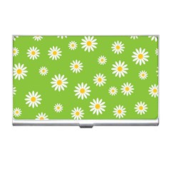 Daisy Flowers Floral Wallpaper Business Card Holders