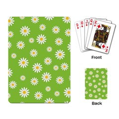 Daisy Flowers Floral Wallpaper Playing Card