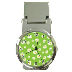 Daisy Flowers Floral Wallpaper Money Clip Watches
