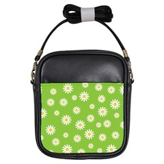 Daisy Flowers Floral Wallpaper Girls Sling Bags