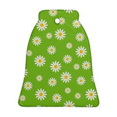 Daisy Flowers Floral Wallpaper Ornament (bell)