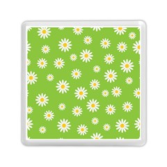 Daisy Flowers Floral Wallpaper Memory Card Reader (square)
