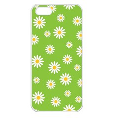 Daisy Flowers Floral Wallpaper Apple Iphone 5 Seamless Case (white)