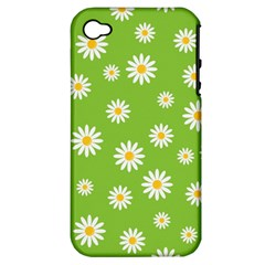 Daisy Flowers Floral Wallpaper Apple Iphone 4/4s Hardshell Case (pc+silicone)