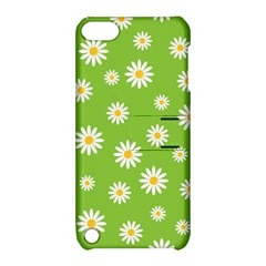 Daisy Flowers Floral Wallpaper Apple Ipod Touch 5 Hardshell Case With Stand