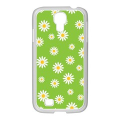 Daisy Flowers Floral Wallpaper Samsung Galaxy S4 I9500/ I9505 Case (white)