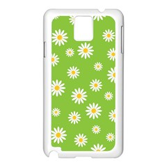 Daisy Flowers Floral Wallpaper Samsung Galaxy Note 3 N9005 Case (white)