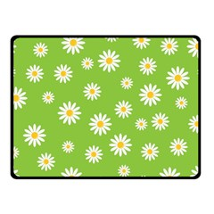Daisy Flowers Floral Wallpaper Double Sided Fleece Blanket (small)