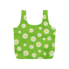 Daisy Flowers Floral Wallpaper Full Print Recycle Bags (s)