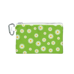 Daisy Flowers Floral Wallpaper Canvas Cosmetic Bag (s)