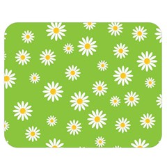 Daisy Flowers Floral Wallpaper Double Sided Flano Blanket (medium)