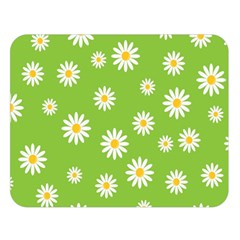 Daisy Flowers Floral Wallpaper Double Sided Flano Blanket (large)
