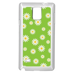 Daisy Flowers Floral Wallpaper Samsung Galaxy Note 4 Case (white)