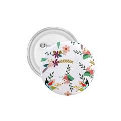 Floral Backdrop Pattern Flower 1 75  Buttons