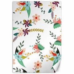 Floral Backdrop Pattern Flower Canvas 12  X 18