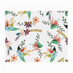 Floral Backdrop Pattern Flower Small Glasses Cloth (2 Side)