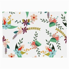 Floral Backdrop Pattern Flower Large Glasses Cloth (2 Side)