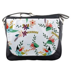 Floral Backdrop Pattern Flower Messenger Bags