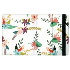 Floral Backdrop Pattern Flower Apple Ipad 2 Flip Case