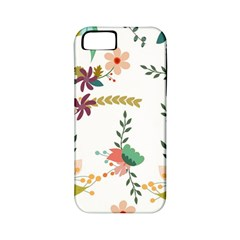 Floral Backdrop Pattern Flower Apple Iphone 5 Classic Hardshell Case (pc+silicone)