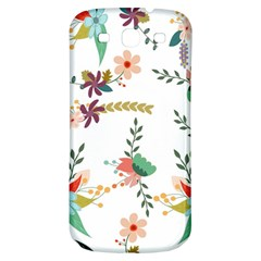 Floral Backdrop Pattern Flower Samsung Galaxy S3 S Iii Classic Hardshell Back Case