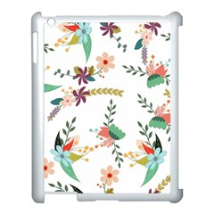 Floral Backdrop Pattern Flower Apple Ipad 3/4 Case (white)