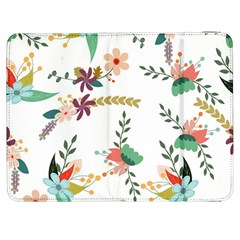 Floral Backdrop Pattern Flower Samsung Galaxy Tab 7  P1000 Flip Case