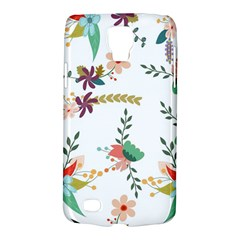Floral Backdrop Pattern Flower Galaxy S4 Active