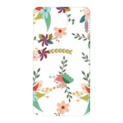 Floral Backdrop Pattern Flower Samsung Galaxy Note 3 N9005 Hardshell Back Case