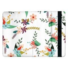 Floral Backdrop Pattern Flower Samsung Galaxy Tab Pro 12 2  Flip Case