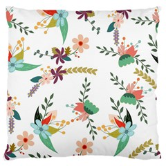Floral Backdrop Pattern Flower Large Flano Cushion Case (one Side)