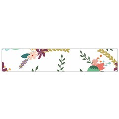 Floral Backdrop Pattern Flower Small Flano Scarf