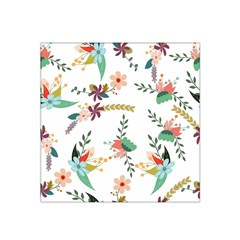 Floral Backdrop Pattern Flower Satin Bandana Scarf