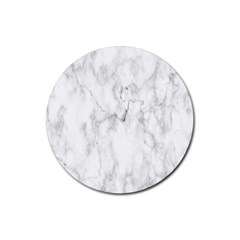 White Background Pattern Tile Rubber Round Coaster (4 Pack)