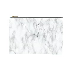 White Background Pattern Tile Cosmetic Bag (large)