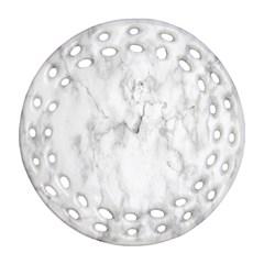 White Background Pattern Tile Ornament (round Filigree)